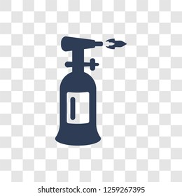 blowtorch icon. Trendy blowtorch logo concept on transparent background from Construction collection