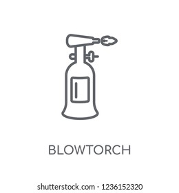 blowtorch linear icon. Modern outline blowtorch logo concept on white background from Construction collection. Suitable for use on web apps, mobile apps and print media.