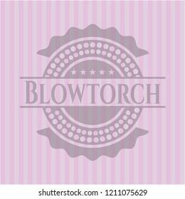 Blowtorch retro pink emblem