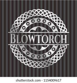 Blowtorch silver badge or emblem