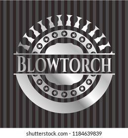 Blowtorch silvery emblem or badge