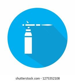 Blowtorch vector icon illustration