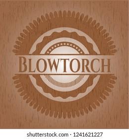 Blowtorch vintage wood emblem