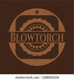 Blowtorch wood emblem. Retro