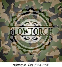 Blowtorch written on a camo texture