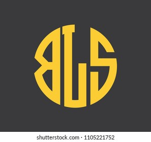 BLS letter alphabet abstract logo vector
