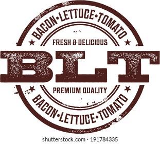 BLT Bacon Deli Sandwich Menu Stamp