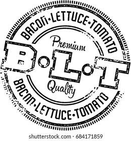 BLT Sandwich Vintage Menu Design Stamp