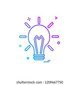 blub light electric icon vector design