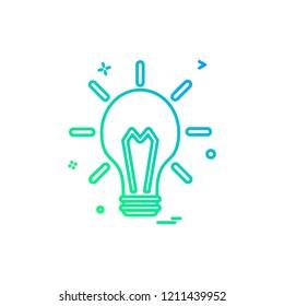 blub light electric icon vector design