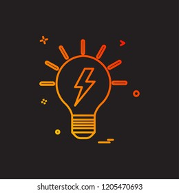 blub power electric icon vector design