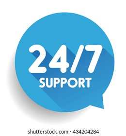 Blue 24/7 Support button