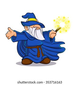 Blue wizard cartoon