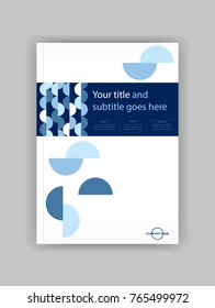Blue A4 Business Book Cover Design Template. Good for Portfolio, Brochure, Annual Report, Flyer, Magazine, Academic Journal, Website, Poster, Monograph, Corporate Presentation, Conference Vector.