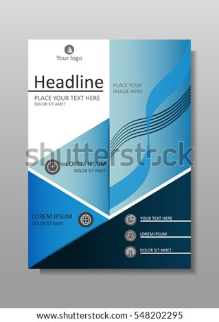 Blue A 4 Business Book Cover Design Stock Vector Royalty Free