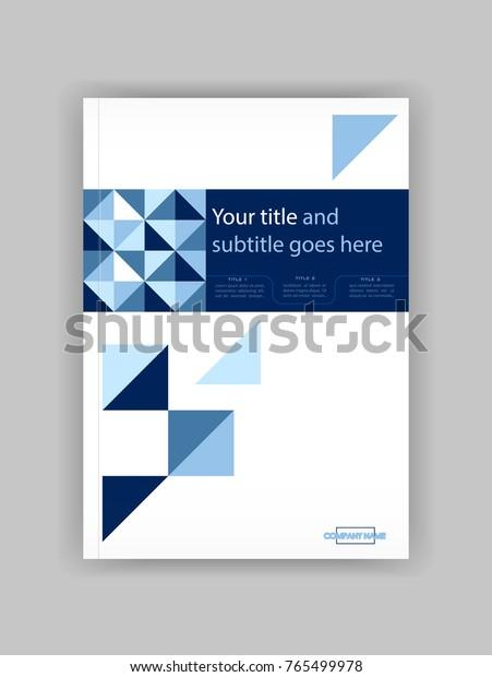 Blue A4 Business Book Cover Design Template. Good for Portfolio, Brochure, Annual Report, Flyer, Magazine, Academic Journal, Website, Poster, Monograph, Corporate Presentation, diamond Vector.