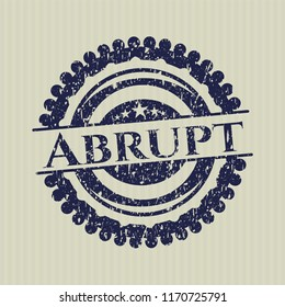 Blue Abrupt distressed rubber seal