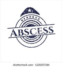 Blue Abscess distressed rubber grunge texture stamp