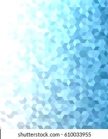 Blue abstract 3d cube mosaic pattern background design