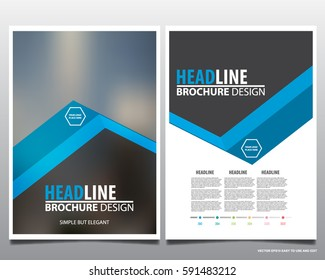 Blue abstract annual report Brochure design template vector. Business Flyers infographic magazine poster.Abstract layout template ,Book Cover presentation portfolio.