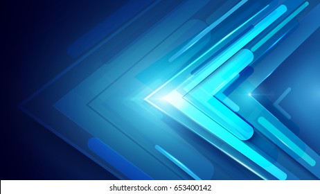 Blue abstract arrows sign digital hi technology concept background. Space for your text