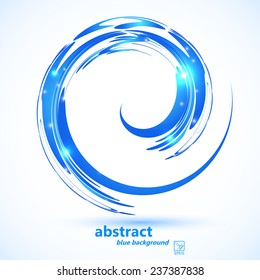 Blue abstract background. eps10. Vector illustration.