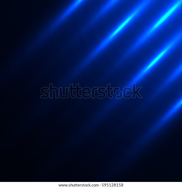 Blue abstract background with luminous stripes. Light effect. Vector illustration.