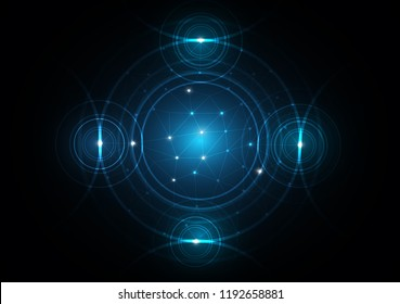 blue abstract background network circle