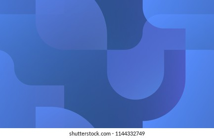 Blue abstract background - seamless pattern