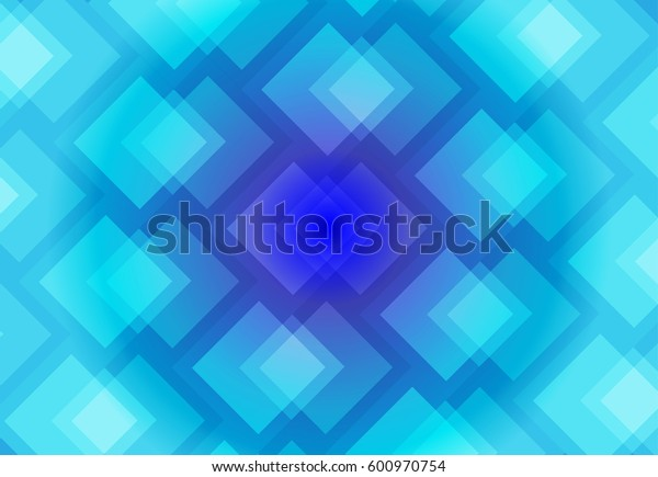 Blue abstract background vector art of overlap of colorful squares.