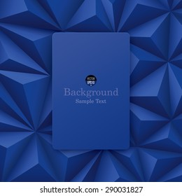 Blue abstract background vector. Can be used in cover design, book design, website background, CD cover or advertising.