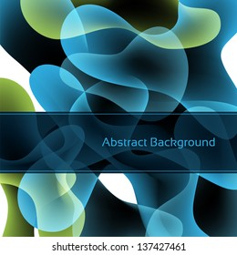 Blue abstract background. Vector eps10.