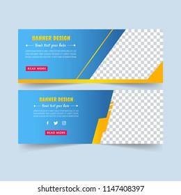 Blue abstract banner. Banner set.  Brochure design. Sale card. Gift voucher. Vector illustration