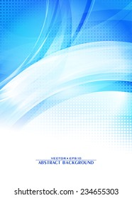 Blue abstract digital pattern. Cover design template layout for corporate brochure, flyer, banner. Vector