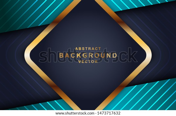 Blue Abstract Dimension On Black Background Stock Vector
