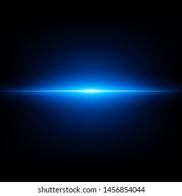 Blue abstract flash on black background. Flying blue burst. EPS 10 vector file included