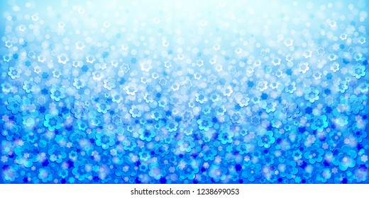 Blue abstract floral background for banners and flyers