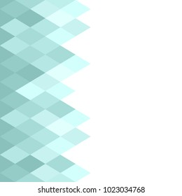 blue abstract geometric diamond  pattern, texture, background, wallpaper, banner, label, frame, vector design