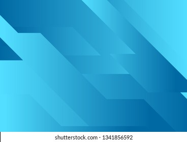 Blue abstract geometric minimal tech background. Vector design