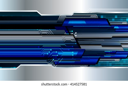 Blue abstract hi speed internet technology background illustration. eye scan virus computer. motion move. vector
