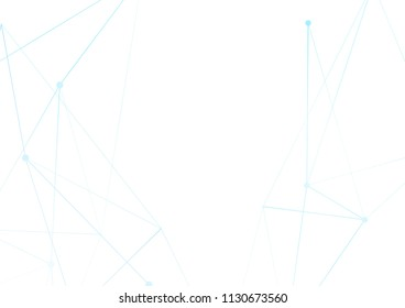 Blue abstract high-tech thin line pattern over white. Vector illustration