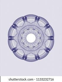 Blue abstract linear rosette
