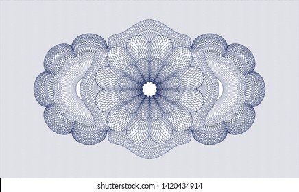 Blue abstract linear rosette. Vector Illustration. Detailed.