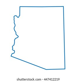 blue abstract map of Arizona