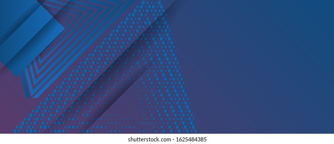 Blue abstract modern colors gradient geometric shape with lines and shadows editable vector design - Shutterstock ID 1625484385