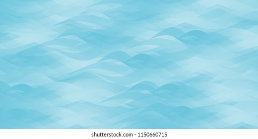 Blue abstract ocean seascape. Vector background.