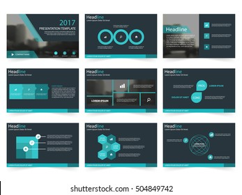 Blue Abstract presentation templates, Infographic elements flat design set for annual report brochure flyer leaflet marketing advertising banner template