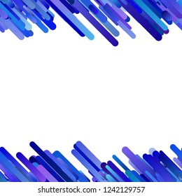 Blue abstract repeating modern gradient diagonal stripe pattern background - vector border illustration