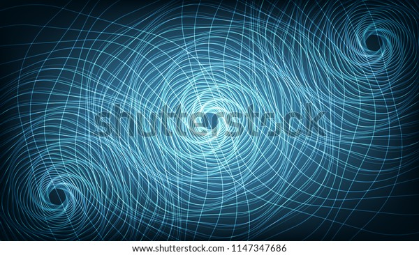 Blue Abstract Spiral Background,Signal and Circle Concept design,Vector illustration.