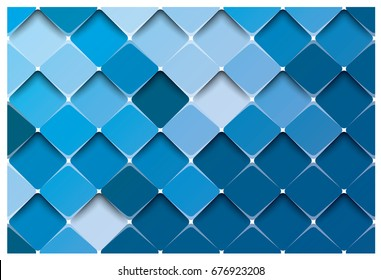 Blue abstract square design
